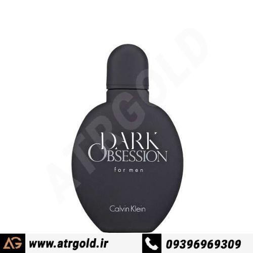 ادو تویلت مردانه کلوین کلاین مدل Obsession Dark حجم 125 میلی لیتر