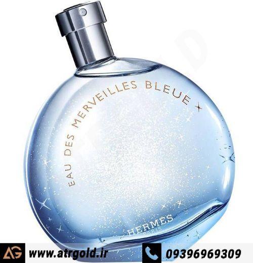 ادو تویلت زنانه هرمس مدل Eau des Merveilles Bleue حجم 100 میلی لیتر