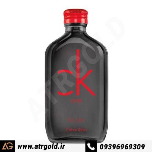 ادو تویلت مردانه کلوین کلاین مدل CK One Red Edition For Him حجم 100 میلی لیتر